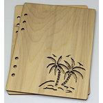 Clear Scraps - Birch Wood Laser Cut Album Covers - 6 x 8 - Palm Trees