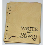 Clear Scraps - Birch Wood Laser Cut Album Covers - 6 x 8 - Write Your Story