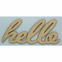 Clear Scraps - Wood Words - Scripted - Hello