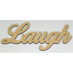 Clear Scraps - Wood Words - Scripted - Laugh