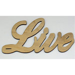 Clear Scraps - Wood Words - Scripted - Live