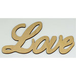Clear Scraps - Wood Words - Scripted - Love