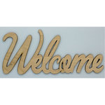 Clear Scraps - Wood Words - Scripted - Welcome