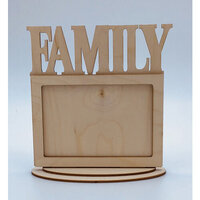 Clear Scraps - Wooden Desk Top Word Frames - Family
