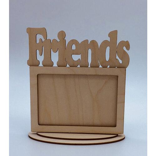 Clear Scraps - Wooden Desk Top Word Frames - Friends