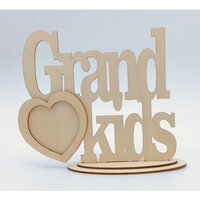Clear Scraps - Wooden Desk Top Word Frames - Grandkids