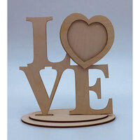 Clear Scraps - Wooden Desk Top Word Frames - Love