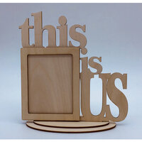 Clear Scraps - Wooden Desk Top Word Frames - This Is Us