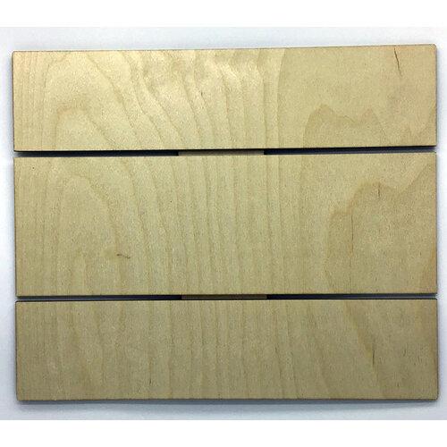 Clear Scraps - DIY - Birch Wood Pallet - Medium - Rectangle