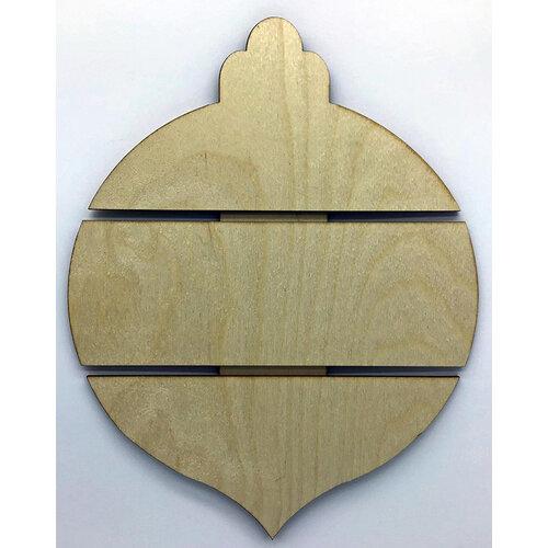 Clear Scraps - Christmas - DIY - Birch Wood Pallet - Medium - Bulb