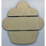 Clear Scraps - DIY - Birch Wood Pallet - Cupcake
