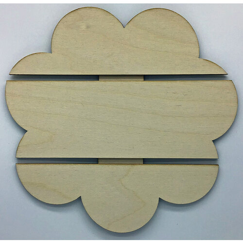 Clear Scraps - DIY - Birch Wood Pallet - Flower