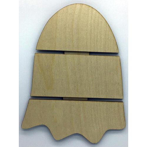 Clear Scraps - Halloween - DIY - Birch Wood Pallet - Medium - Ghost