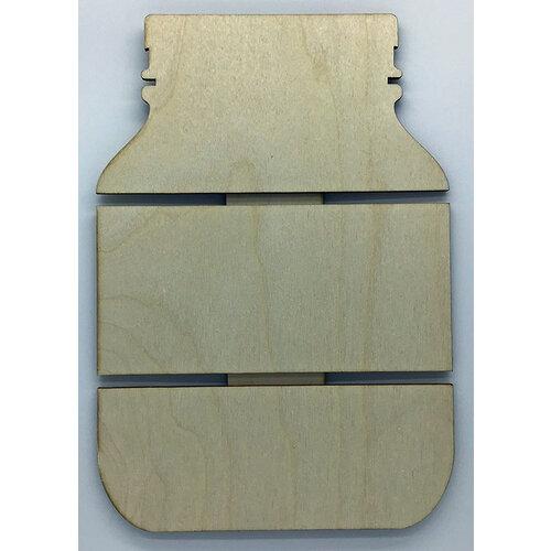 Clear Scraps - DIY - Birch Wood Pallet - Mason Jar