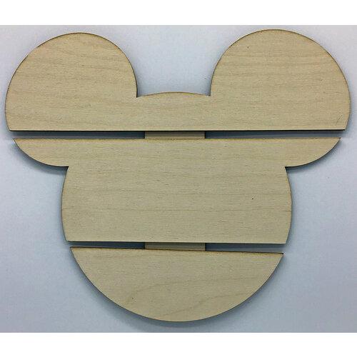 Clear Scraps - DIY - Birch Wood Pallet - Mouse