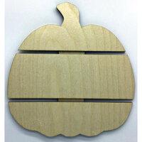 Clear Scraps - Halloween - DIY - Birch Wood Pallet - Medium - Pumpkin