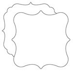 Clear Scraps - Clear Acrylic Shapes - XL Deco, CLEARANCE