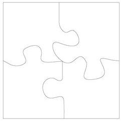 Clear Scraps - Clear Album - XL Puzzle Pieces, CLEARANCE