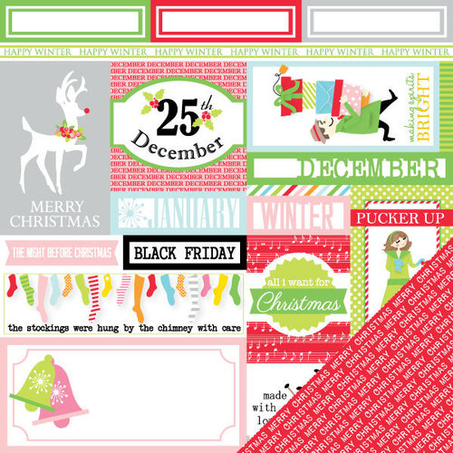 Chickaniddy Crafts - Jolly Good Collection - Christmas - 12 x 12 Double Sided Paper - Making Spirits Bright