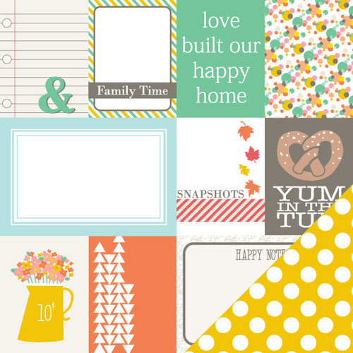 Chickaniddy Crafts - Scrumptious Collection - 12 x 12 Double Sided Paper - Corn On The Cob