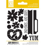 Chickaniddy Crafts - Scrumptious Collection - Clear Acrylic Stamps - Mini Illustrated