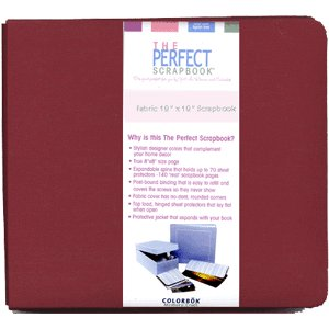 8 x 8 Colorbok - Jill Rinner The Perfect Scrapbook - Cherry