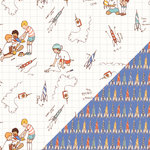 Colorbok - Making Memories - Sarah Jane Collection - 12 x 12 Double Sided Paper - Rocket Launch Boy
