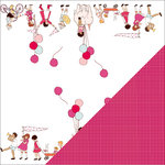 Colorbok - Making Memories - Sarah Jane Collection - 12 x 12 Double Sided Paper - On Parade Girl