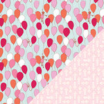 Colorbok - Making Memories - Sarah Jane Collection - 12 x 12 Double Sided Paper - Balloons Girl