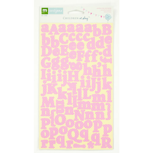 Colorbok - Making Memories - Sarah Jane Collection - Cardstock Stickers - Alphabet - Girl