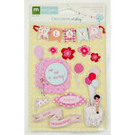 Colorbok - Making Memories - Sarah Jane Collection - 3 Dimensional Stickers with Epoxy Accents - Girl