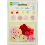 Colorbok - Making Memories - Sarah Jane Collection - Brads and Felt Buttons - Girl