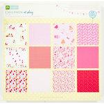Colorbok - Making Memories - Sarah Jane Collection - 12 x 12 Paper Pad - Girl