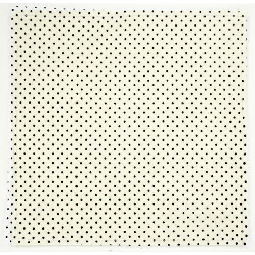 Colorbok - Making Memories - Modern Millinery Collection - 12 x 12 Textile Paper - Net Mini Dot - Black