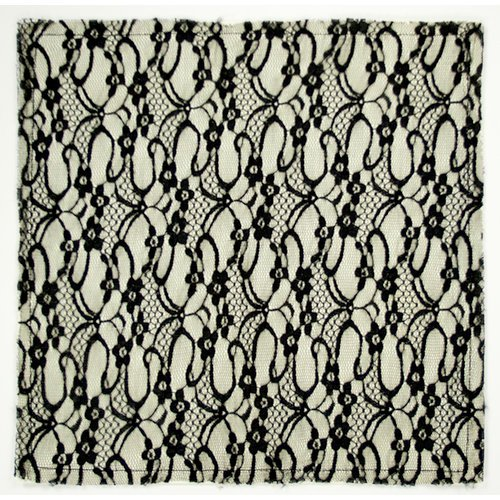 Colorbok - Making Memories - Modern Millinery Collection - 12 x 12 Textile Paper - French Lace - Black