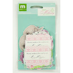 Colorbok - Making Memories - Modern Millinery Collection - Die Cut Cardstock Pieces with Glitter Accents