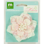 Colorbok - Making Memories - Modern Millinery Collection - Flower Embellishments - Dot and Lace Flower - Pink