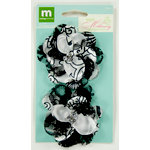Colorbok - Making Memories - Modern Millinery Collection - Flower Embellishments - Lace Flowers - Black and Cream
