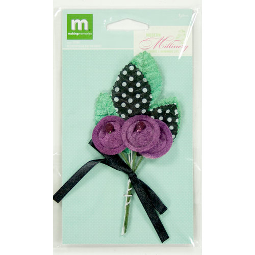 Colorbok - Making Memories - Modern Millinery Collection - Flower Embellishments - Millinery Flower Bouquet - Velvet Polka Dot