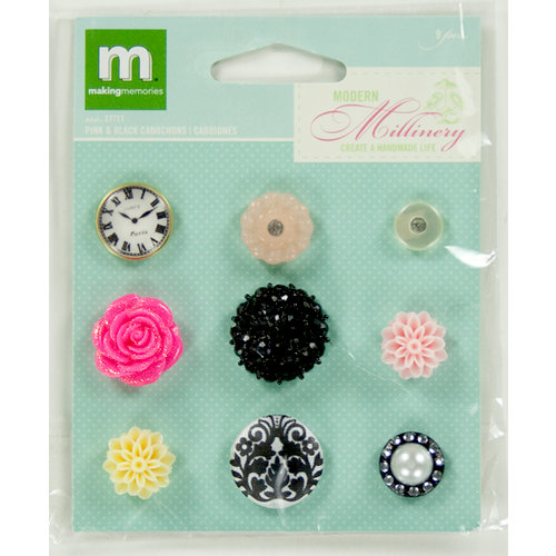 Colorbok - Making Memories - Modern Millinery Collection - Cabochon - Pink and Black