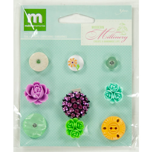 Colorbok - Making Memories - Modern Millinery Collection - Cabochon - Teal and Purple