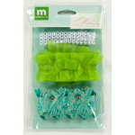 Colorbok - Making Memories - Modern Millinery Collection - Trims - Teal and Green