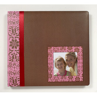 Colorbok - Designer Studio - 12x12 Album - Pink Floral Window, CLEARANCE