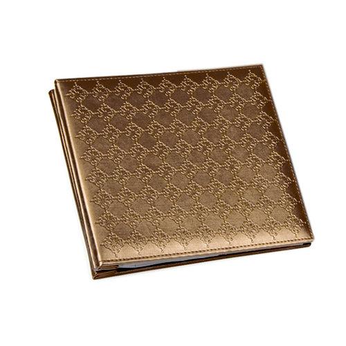 Colorbok - Metallic Collection - 8 x 8 Album - Brown Metallic Debossed, CLEARANCE