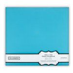 Colorbok - Fabric - 12 x12 - Postbound Scrapbook Albums - Light Teal