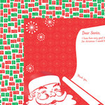 Colorbok - TPC Studio - Retro Christmas Collection - 12 x 12 Double Sided Paper with Varnish Accents - Jolly Old St Nick