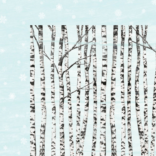 Colorbok - TPC Studio - Woodland Winter Collection - 12 x 12 Double Sided Paper with Varnish Accents - Falling Snow