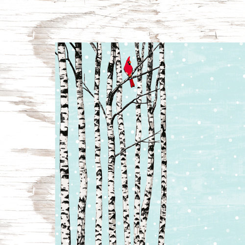 Colorbok - TPC Studio - Woodland Winter Collection - 12 x 12 Double Sided Paper with Varnish Accents - Cardinal