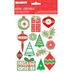 Colorbok - TPC Studio - Retro Christmas Collection - 3 Dimensional Stickers with Foil Accents