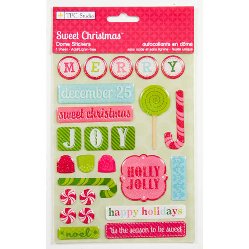 Colorbok - TPC Studio - Sweet Christmas Collection - Dome Stickers with Glitter Accents